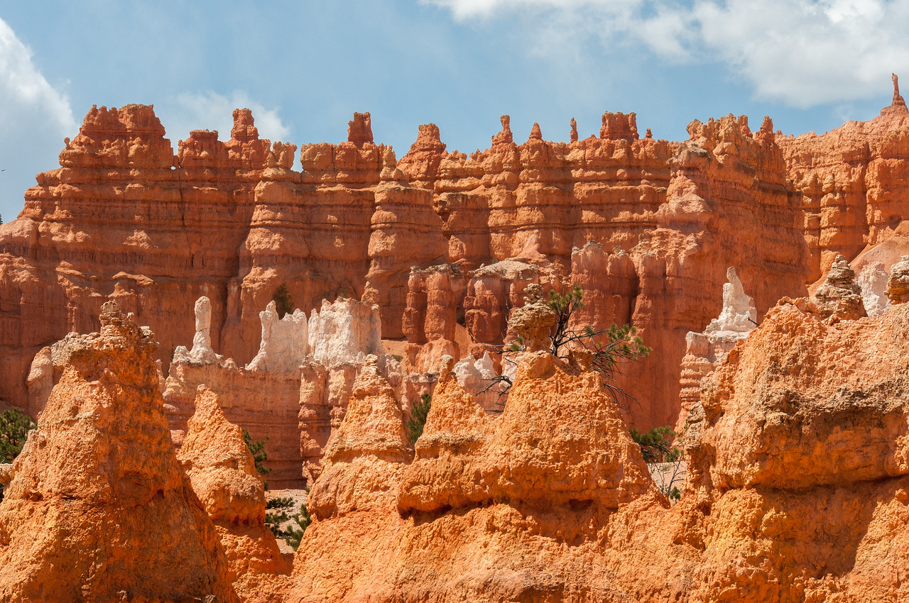 Sedimentary rock formations at Bryce Canyon National Park, Utah