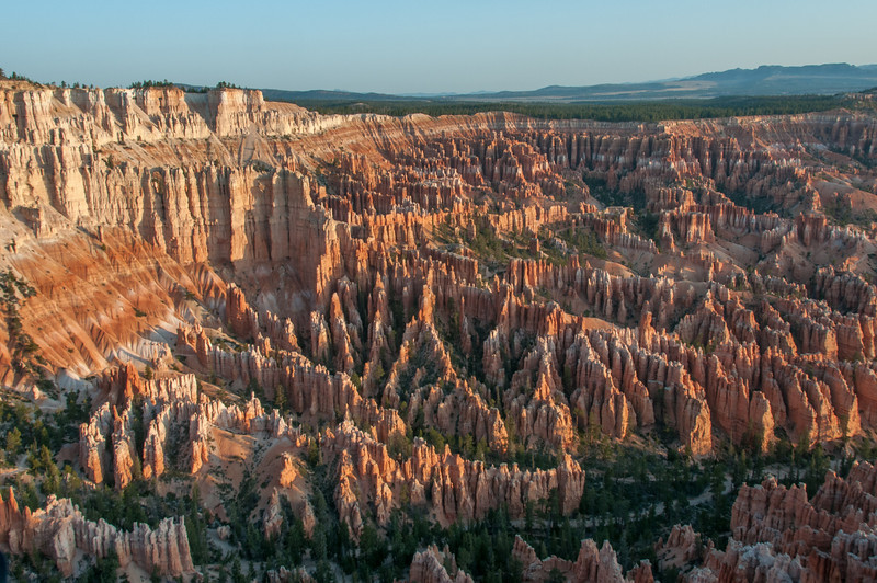 Overlooking view of the Bryce Canyon National Park, Utah