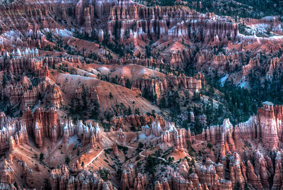 Overlooking view of Bryce Canyon National Park in Utah