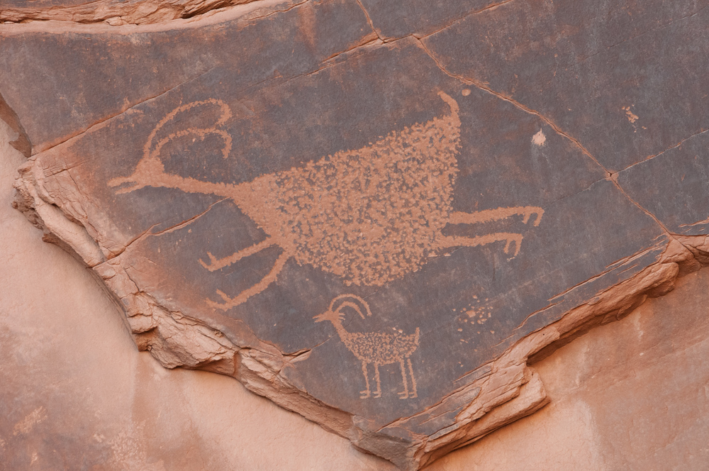 Anasazi Rock Art in Monument Valley, Utah