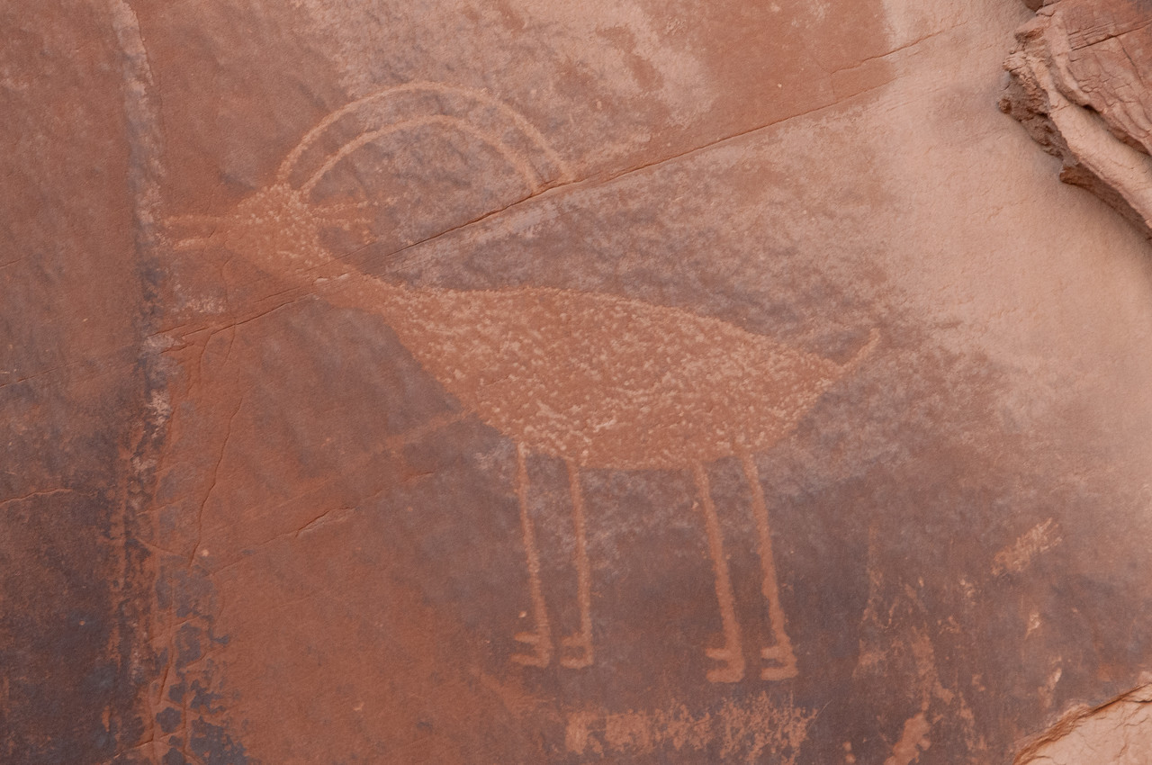 Close-up of graffiti in Monument Valley, Utah