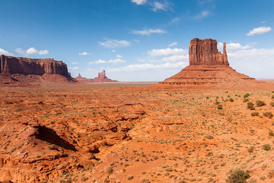 Monument Valley from the valley floor in Utah/Arizona stateline