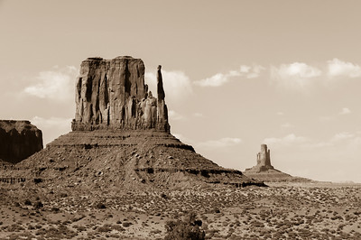 West Mitten Butte in Monument Valley, Utah