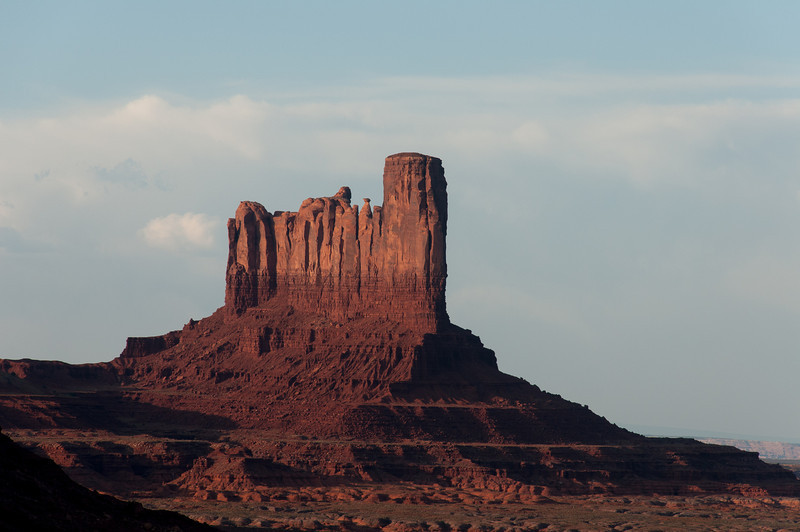 Monument Valley from the valley floor, Utah