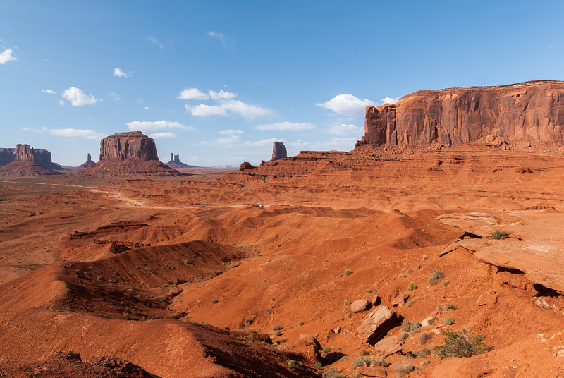 Elephant Butte and Merrick Butte in Monument Valley, Utah