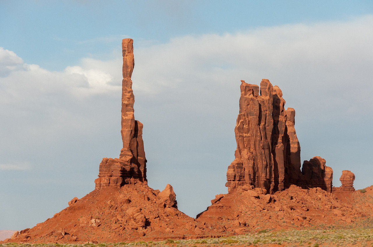 Totem pole in Monument Valley, Utah