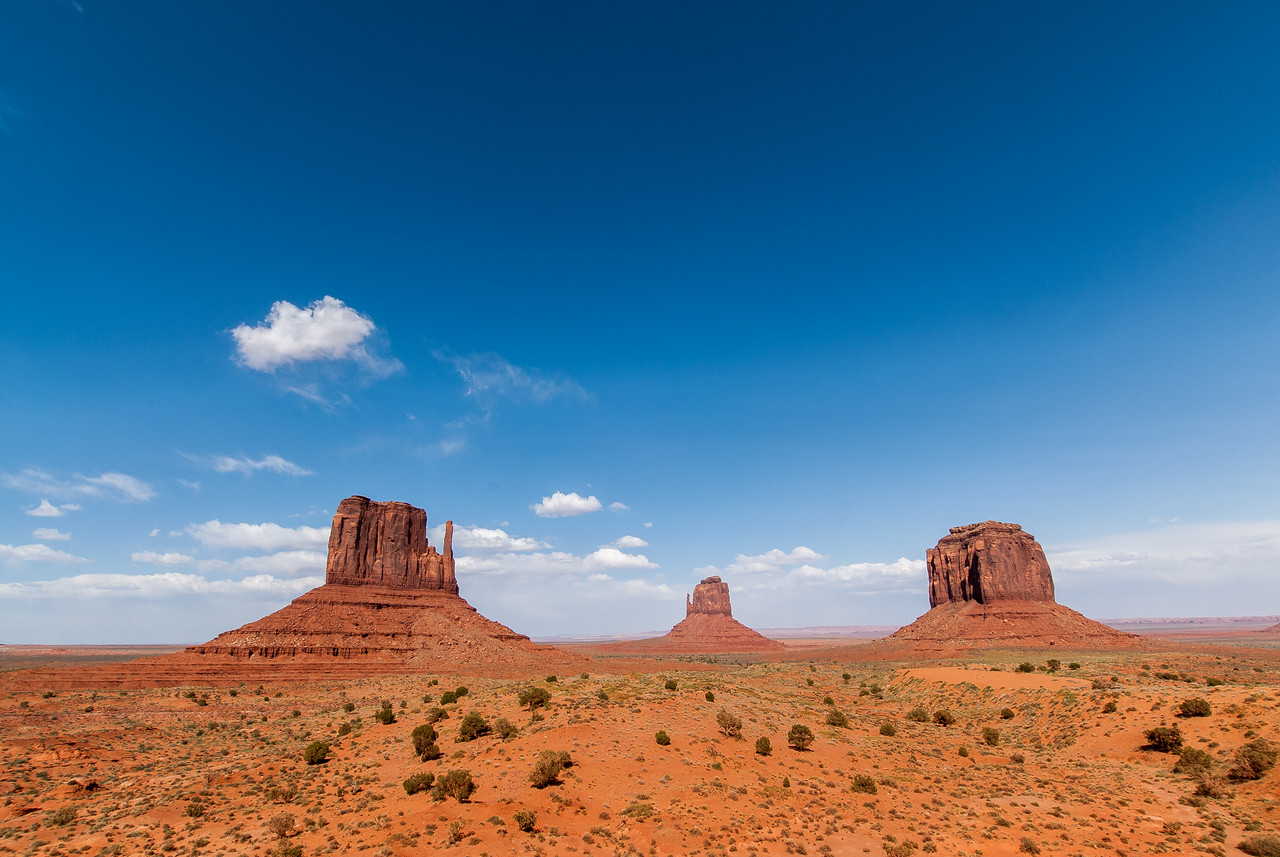 Monument Valley from the valley floor in Utah/Arizona stateline