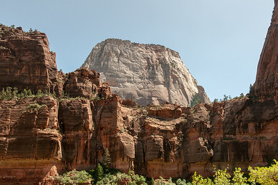 Zion Canyon viewed from the canyon floor in Utah