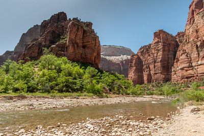Virgin River and canyon in Zion National Park, Utah
