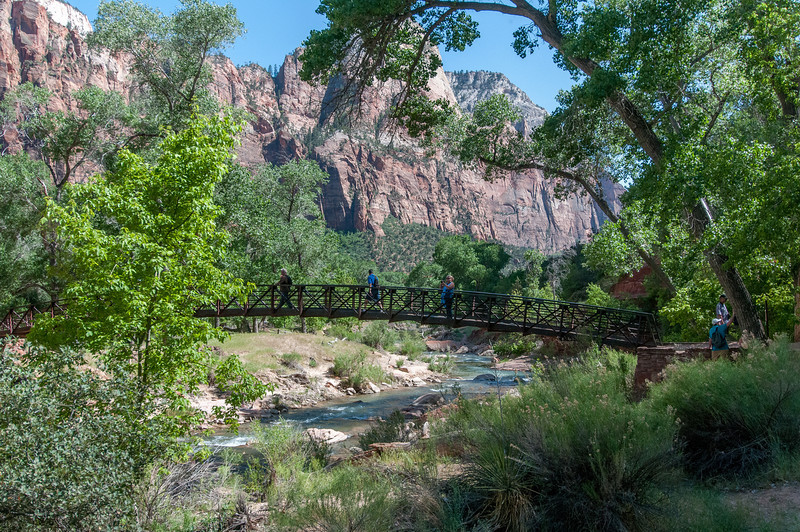 Emerald Pools Trail Bridge in Zion National Park, Utah
