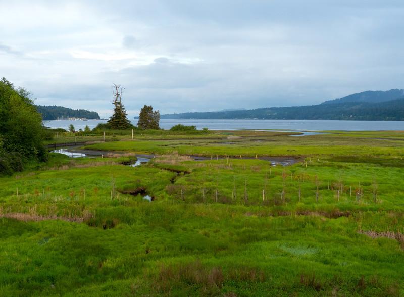 Inn the Estuary looks out onto the Nanoose/Bonnel Estuary on Vancouver Island.