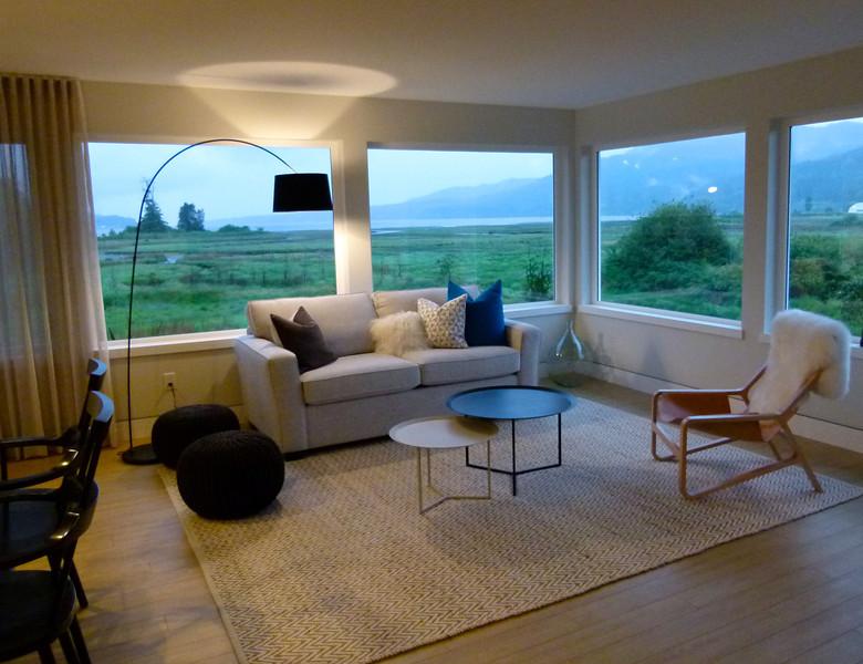 The View Suite at Inn the Estuary has quite the view of Nanoose/Bonnel Estuary.