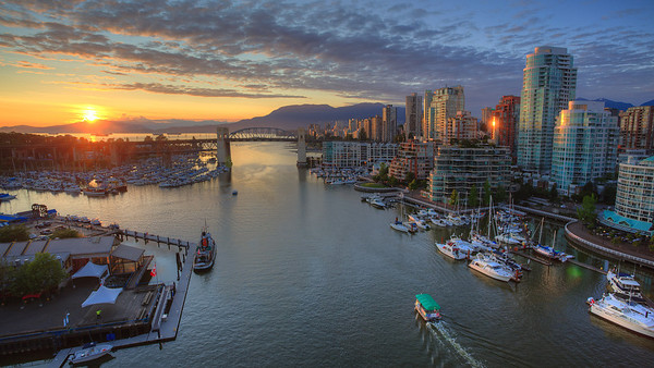 Sunset over Vancouver