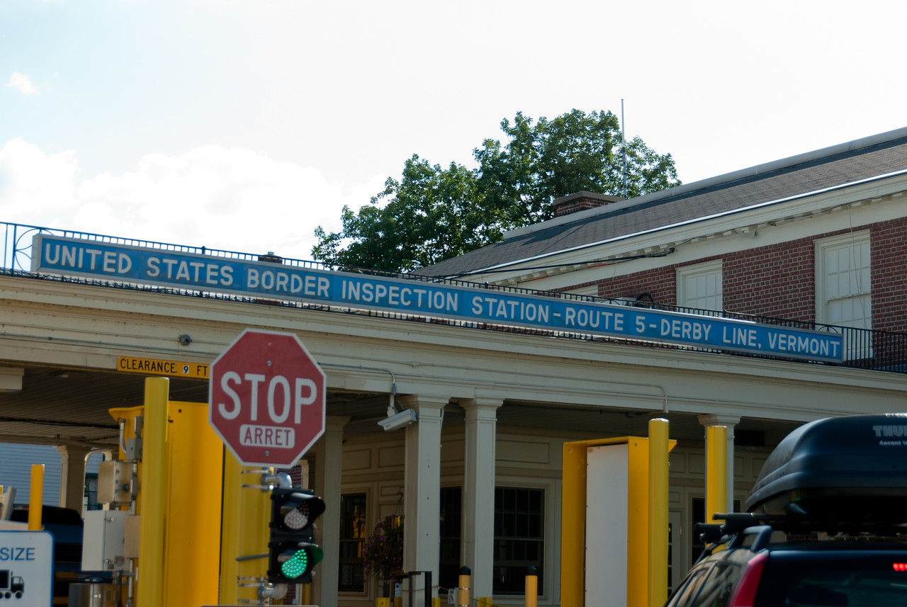 Border inspection station in Derby Line, Vermont