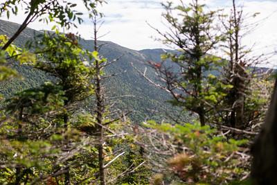 First views of the mountain ridge!