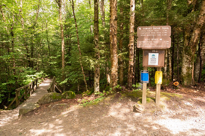 The start of Sunset Ridge Trail! 2.2 miles up to the top of the mountain and the highest point in Vermont :)