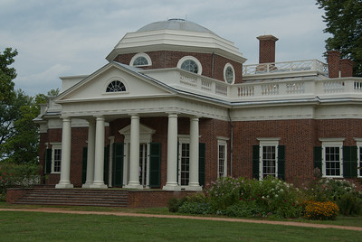 East front of Monticello in Virginia