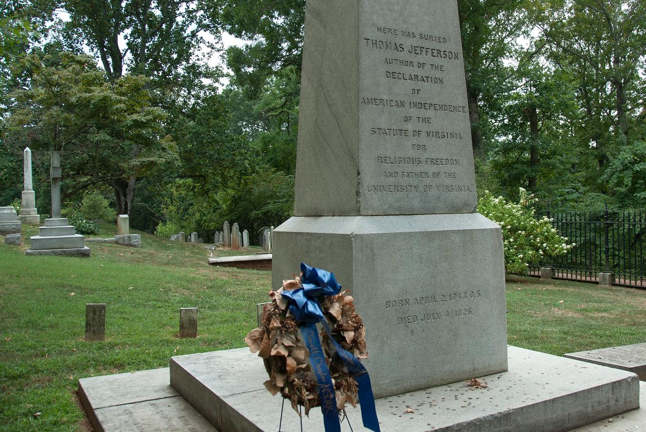 Thomas Jefferson burial site at Monticello, Charlottesville, Virginia