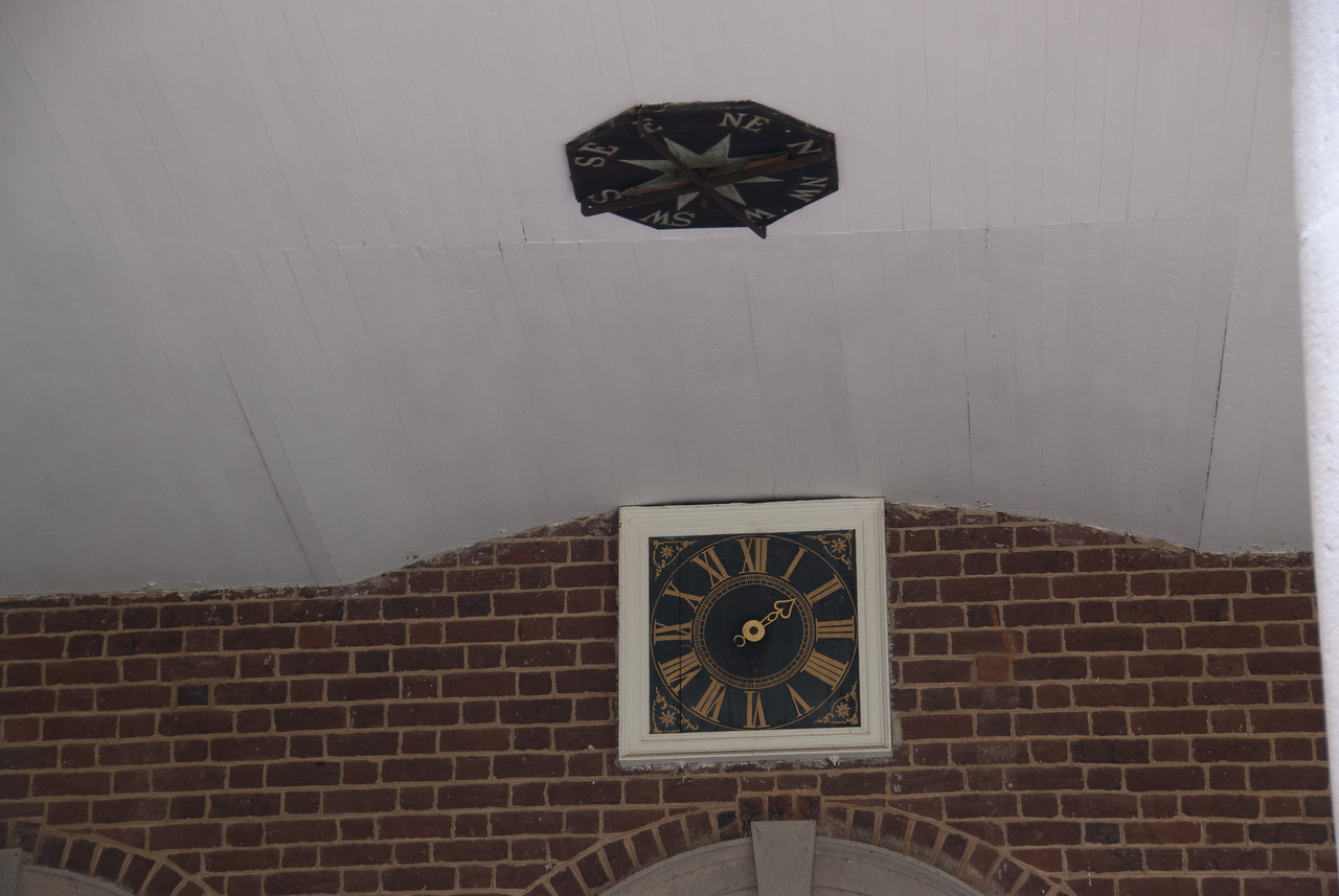 Compass on a ceiling in Monticello, Virginia