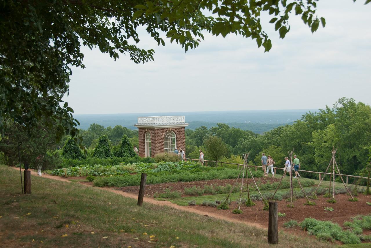 Vegetable garden at Monticello, Virginia