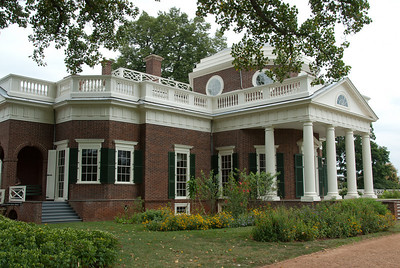 West front of Monticello in Charlottesville, Virginia