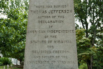 Thomas Jefferson memorial in Monticello, Charlottesville, Virginia