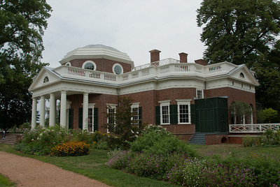 East front of Monticello in Charlottesville, Virginia