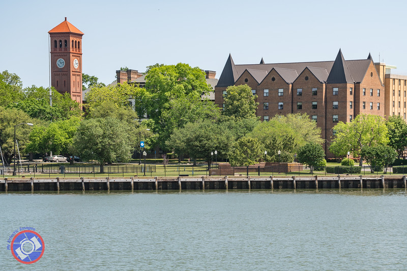 The Clock Tower and Buildings of Hampton University Seen from the Miss Hampton II (©simon@myeclecticimages.com)