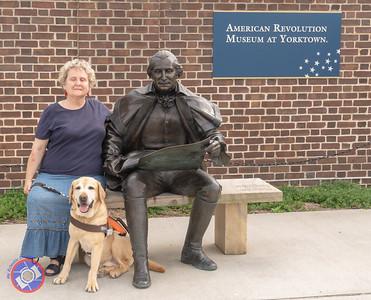 Penny & Otto with George Washington