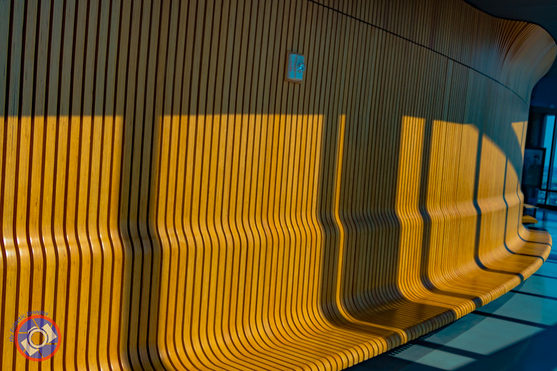 The Wooden Bench that Encircles the Observation Deck at Central place, Arlington (©simon@myeclecticimages.com)