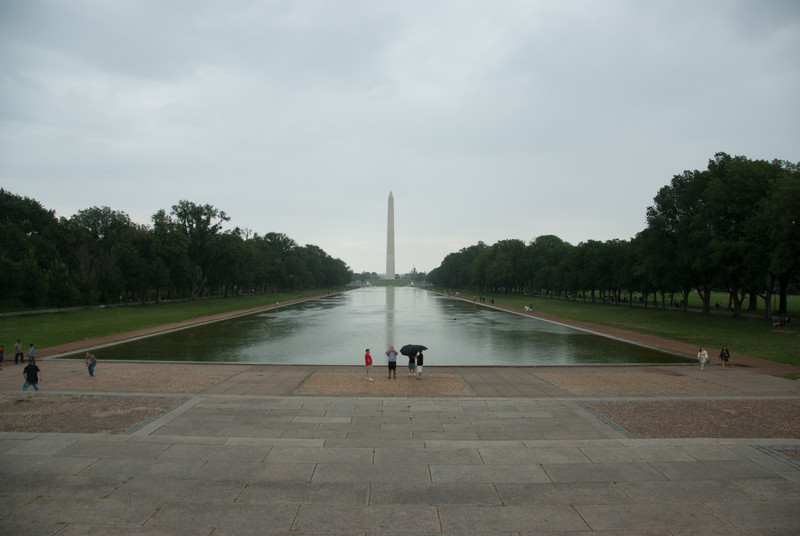 View of Washington Monument from Lincoln Memorial
