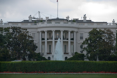 White House from South Lawn in Washington DC