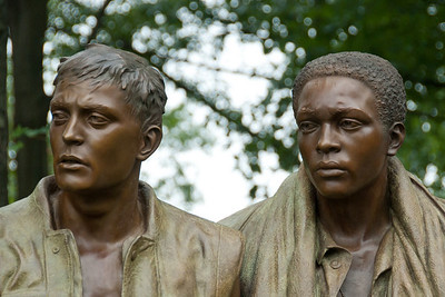 Three Servicemen statue at Vietnam War Memorial in Washington DC