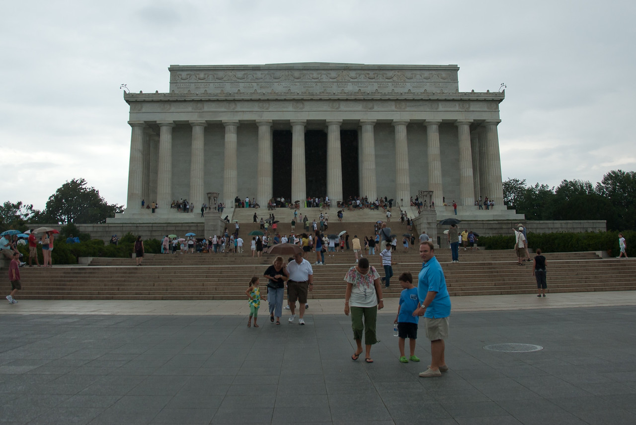 The Lincoln Memorial facade in Washington DC