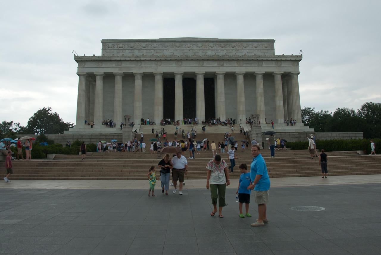 The Lincoln Memorial facade in Washington DC