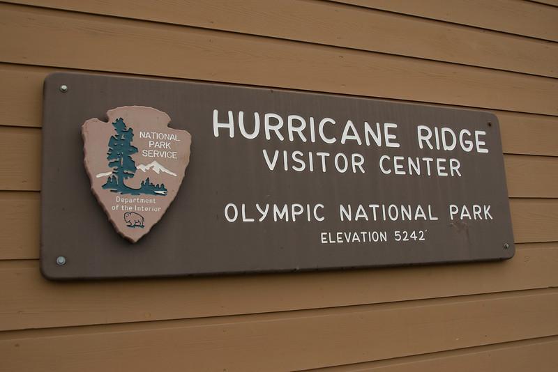 Hurricane Ridge Visitor Center in Olympic National Park, Washington