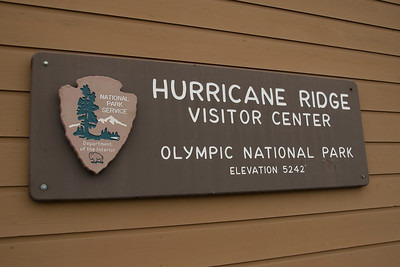 Hurricane Ridge Visitor Center in Olympic National Park, Washington