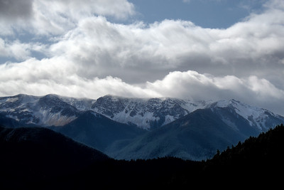 Bailey Range as seen from Hurricane Ridge in Olympic National Park, Washington