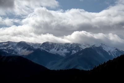 Bailey Range as seen from Hurricane Ridge in Olympic National Park, Washington