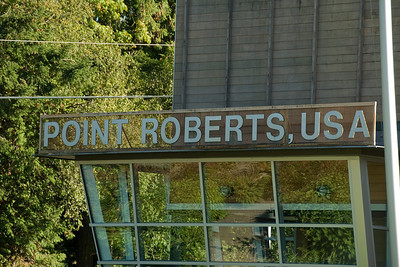 The U.S. Customs and Immigration station at Point Roberts, Washington