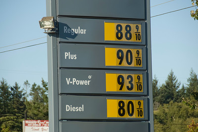 Gas station prices in Point Roberts, Washington