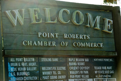Chamber of Commerce sign at Point Roberts, Washington