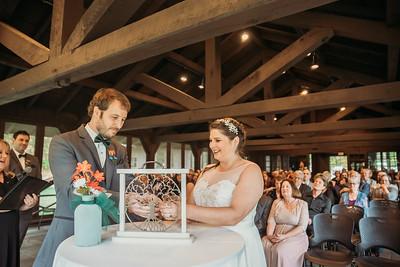 Amanda and Elliot wedding ceremony