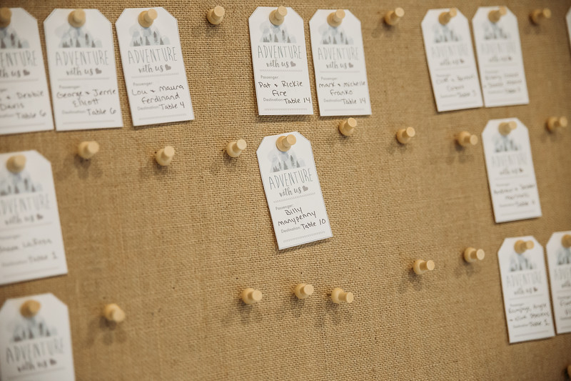 Travel themed wedding seating chart
