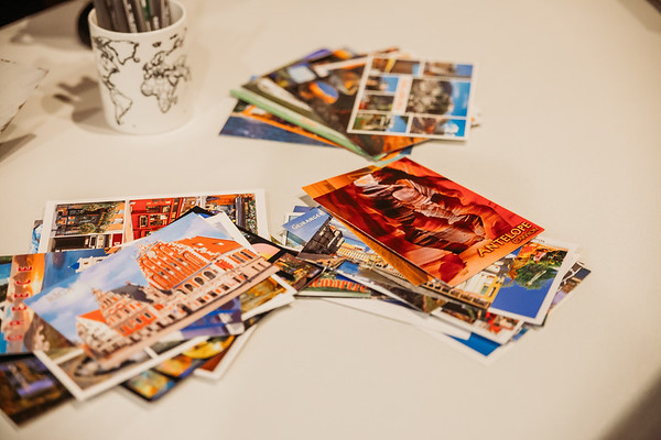 Postcard guestbook
