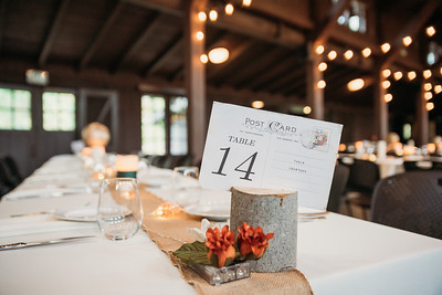 Travel themed wedding table numbers