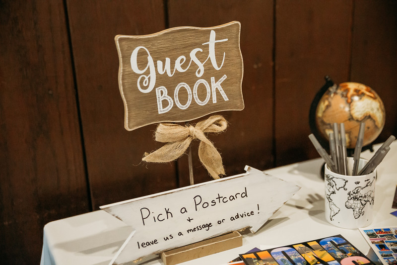 Travel themed wedding guest book