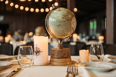 Travel themed wedding decorations