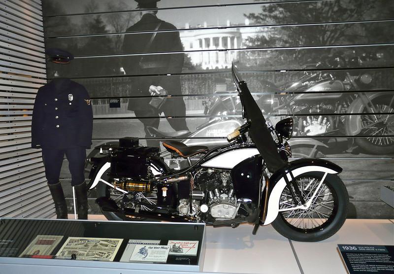 Police ride Harleys