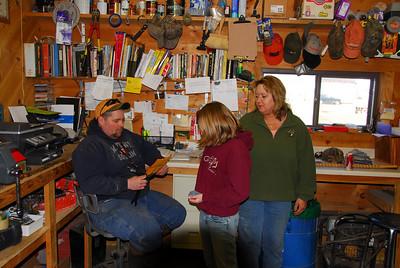 Inside lumber shop in Antigo, Wisconsin